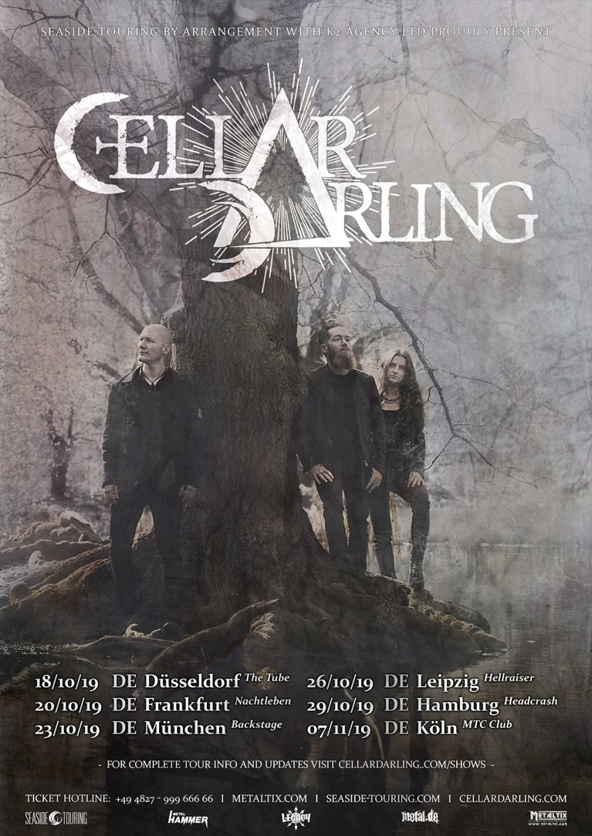 CELLAR DARLING announced some German shows